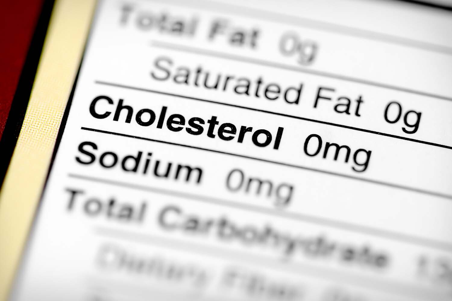 Cholesterol Label