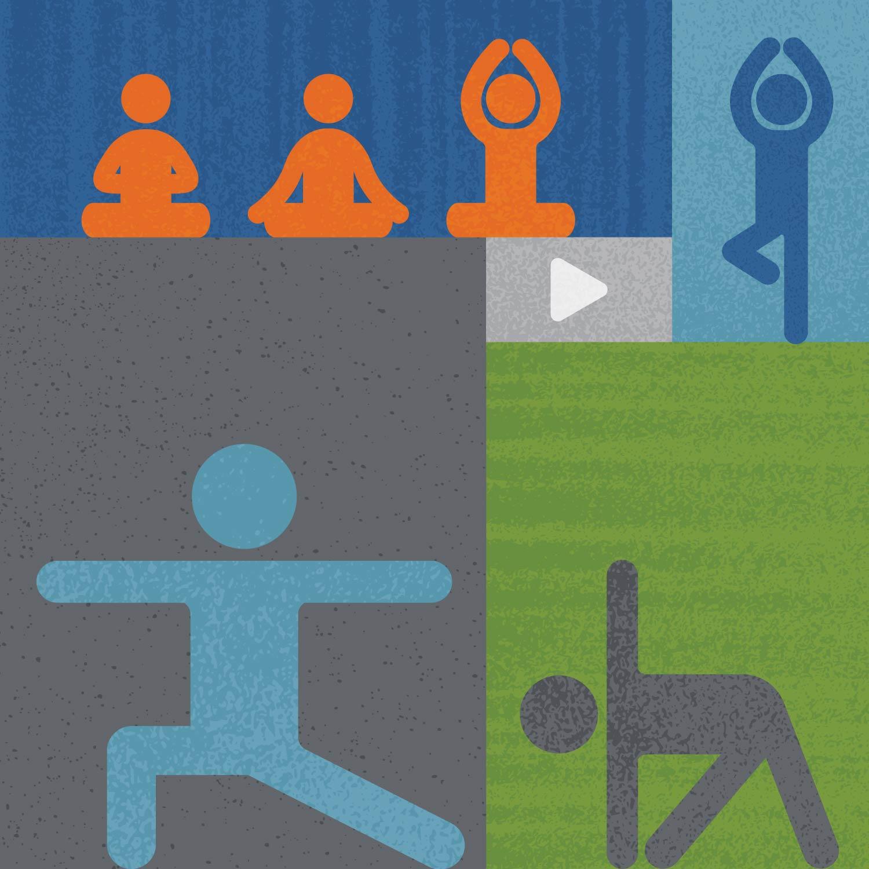 A graphical representation of yoga poses.