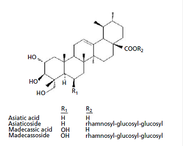 This figure shows a molecular compound sample