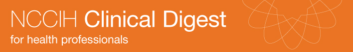 NCCIH Clinical Digest. For health professionals.