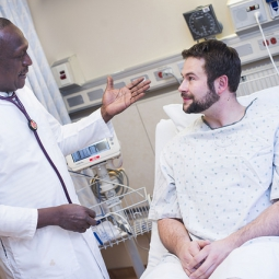 patient talking with doctor at NIH Clinical Center