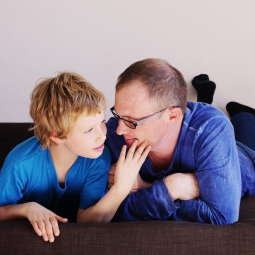An autistic child with parent
