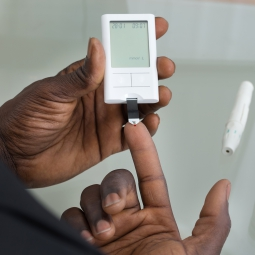 Diabetes testing being done