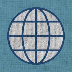 World Logo on cloth