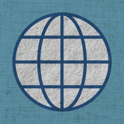World Logo on cloth