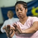 Woman performing tai chi