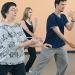 Students practice tai chi