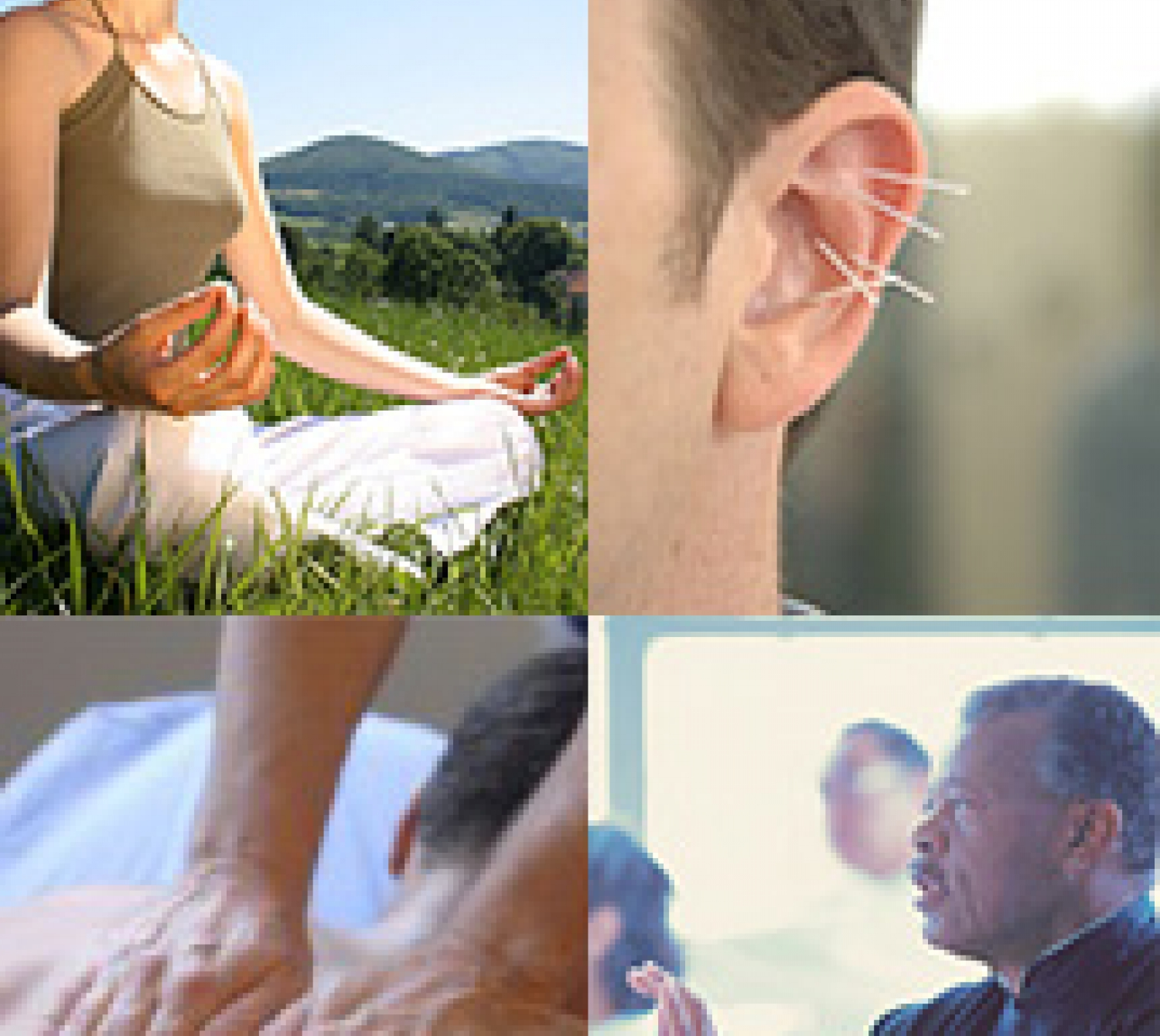 A collage of mind and body practices.