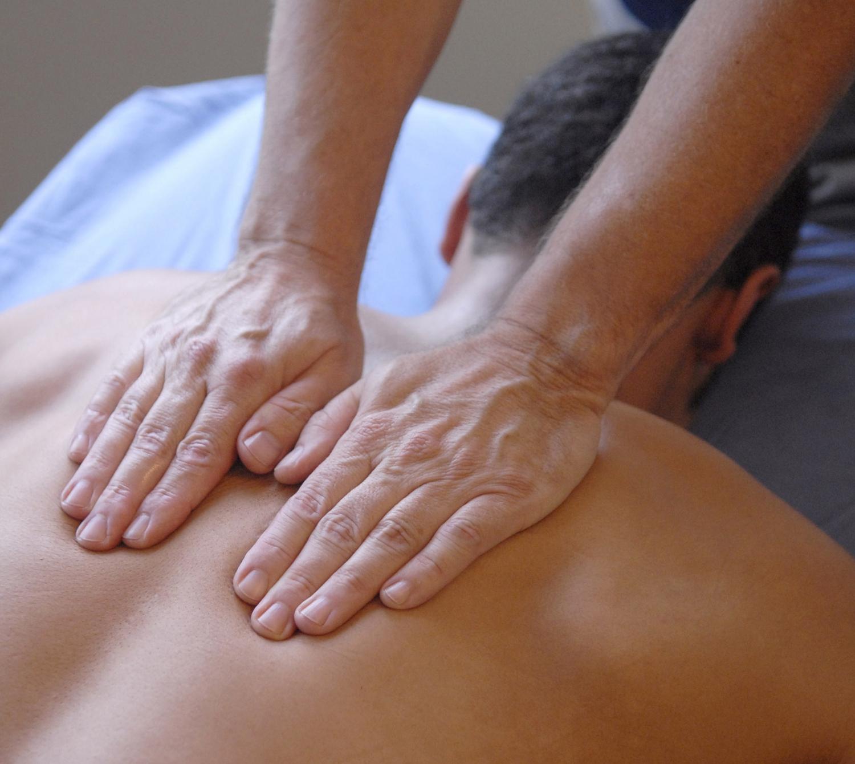 Man getting a massage.