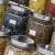 Jars of herbs displayed to sell.