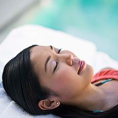 Woman relaxing.