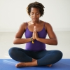 Woman in mediation pose