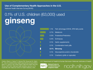 Click on following link for text version of children's use of ginseng