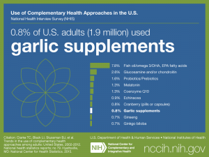 Click on following link for text version of adult use of garlic supplements