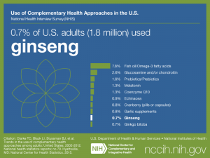 Click on following link for text version of adult use of ginseng