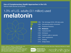 Click on following link for text version of adult use of melatonin