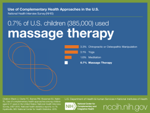 Click on following link for text version of children's use of massage therapy