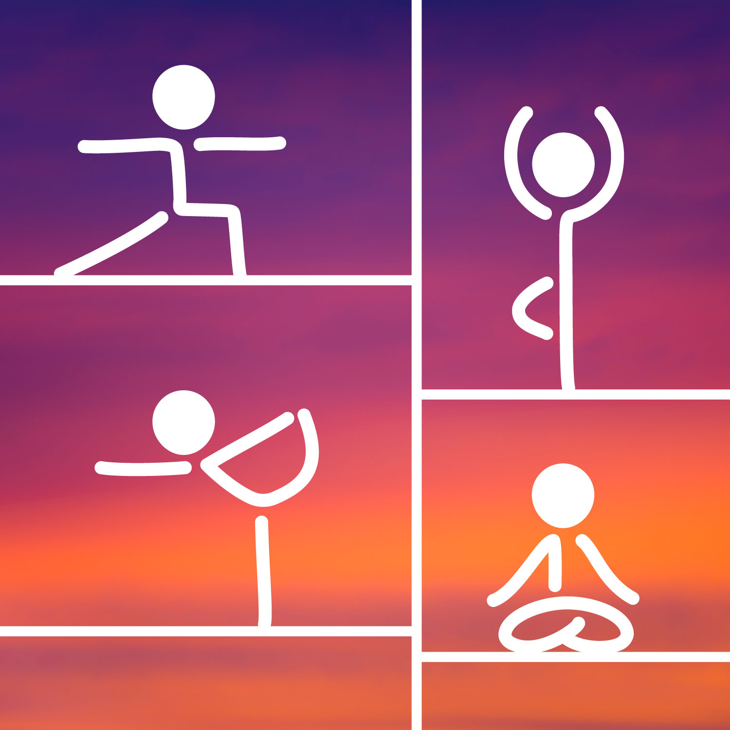 drawing of yoga poses